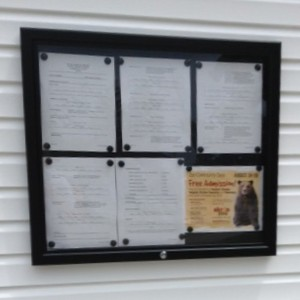 Village Hall Notice Board